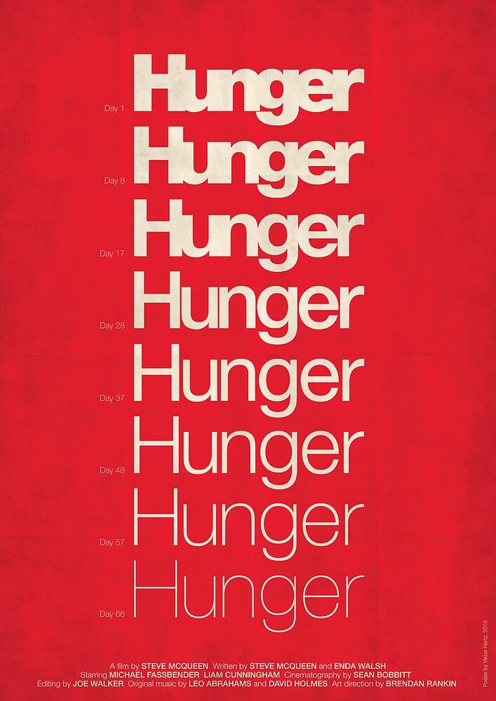 'Hunger' film poster by Viktor Hertz