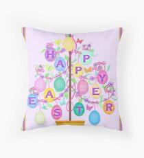 Happy Easter Egg Tree Art Poster Print Dekokissen