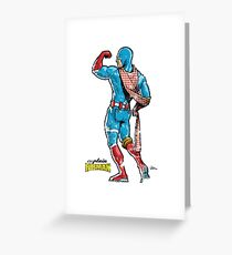 Captain RibMan Greeting Card