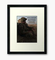 Mission Accomplished Framed Print