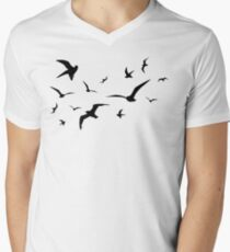 Möwe T-Shirt mit V-Ausschnitt für Männer