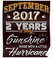 September 2017 Birthday Gifts - September 2017 Celebration Gifts - Awesome Since September 2017 Poster