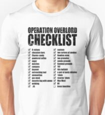 Operation Overlord Checklist Unisex T-Shirt