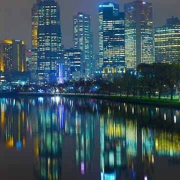 Melbourne By Night II by jscott1976