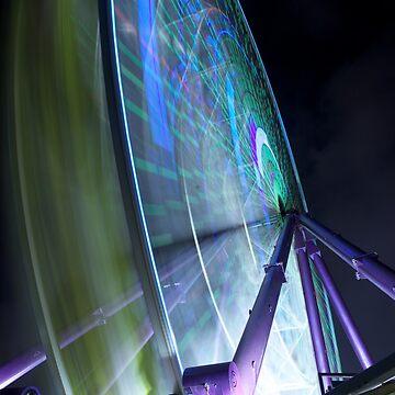 Ferris Wheel Long Exposure Melbourne by jscott1976