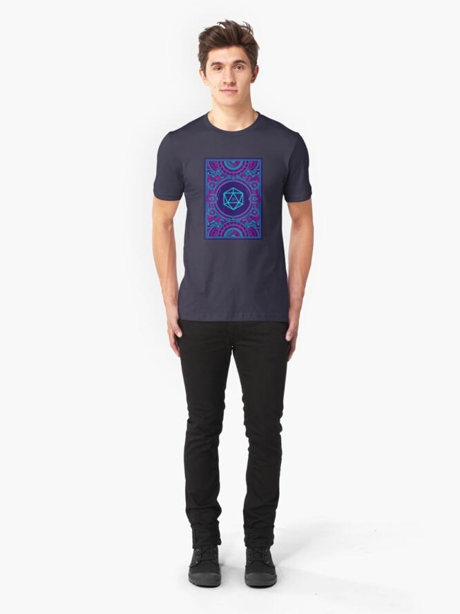 Alternative Ansicht von Cyberpunk-Würfel für Desktop-RPG-D20 Slim Fit T-Shirt