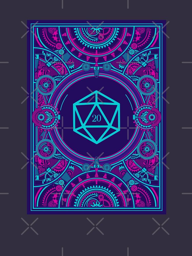 Cyberpunk-Würfel für Desktop-RPG-D20 von pixeptional
