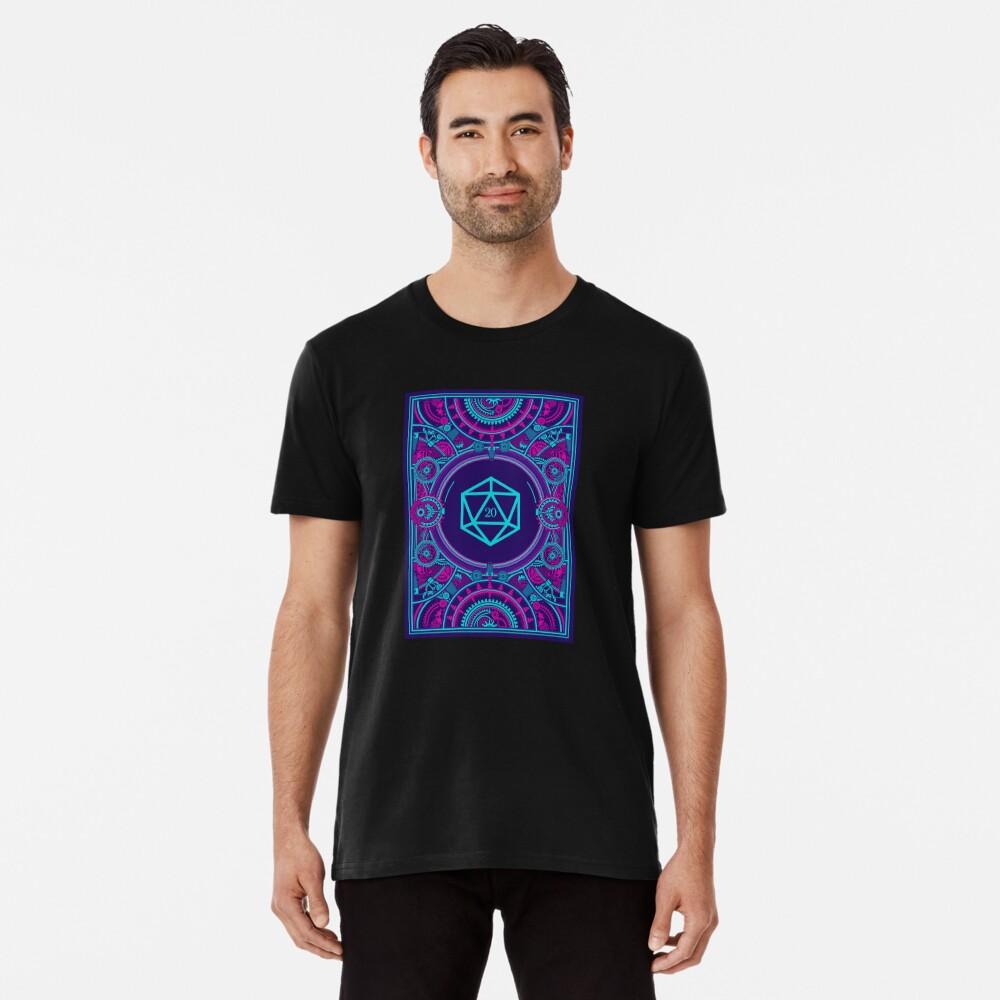 Cyberpunk-Würfel für Desktop-RPG-D20 Premium T-Shirt
