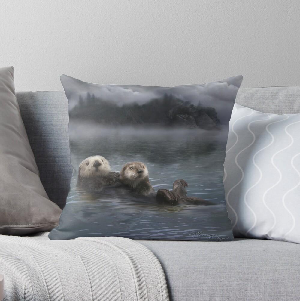 Spirit Otter Throw Pillow