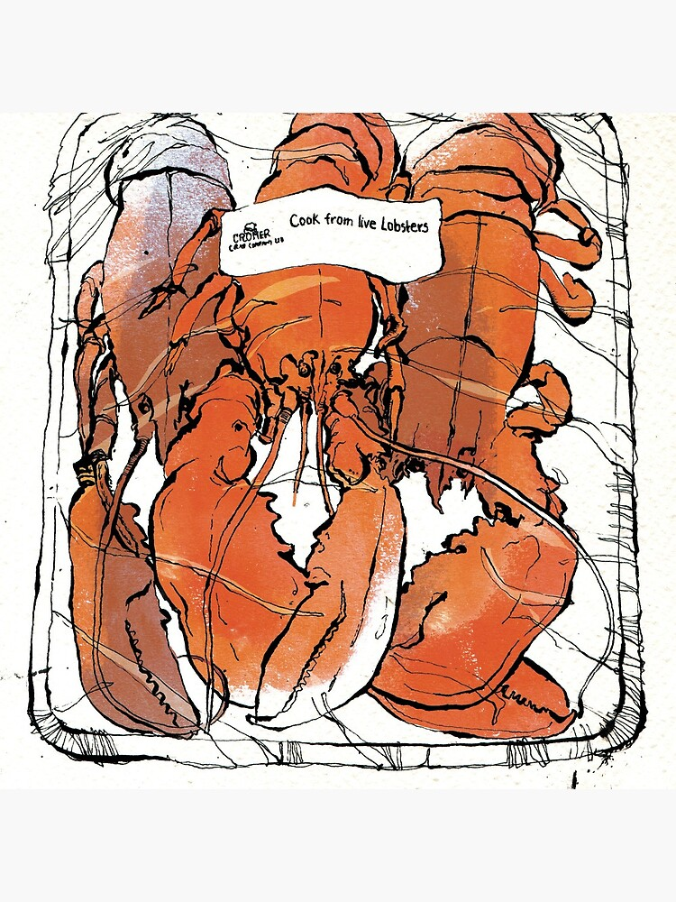 Lobster illustration for foodie magazine. by beeblet