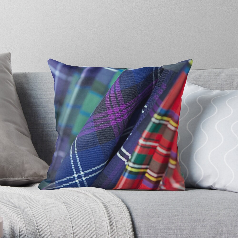 The Clans Throw Pillow