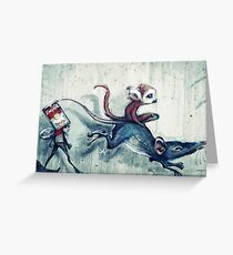 Rat race Greeting Card
