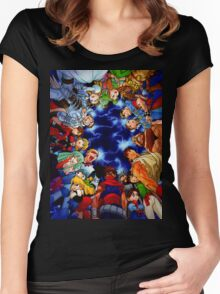 CAPCOM LEGENDS Women's Fitted Scoop T-Shirt