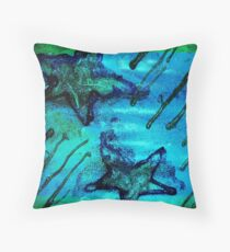 """star lite""  painted digital photo Throw Pillow"