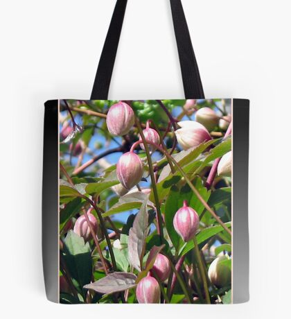 The Darling Buds of May - Pink Clematis Tote Bag