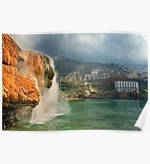 Hot waterfall in Edipsos Poster