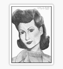 1940's Actress (with background) Sticker
