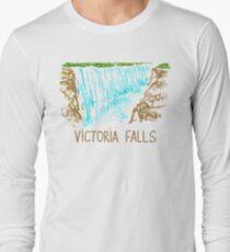 die Victoriafälle Langarmshirt