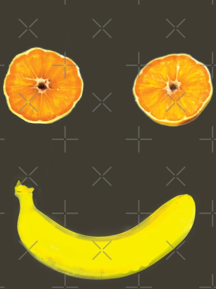 Smiley-Orange fruchtige Banane von judcitron