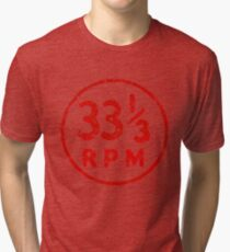 33 1/3 U / min Schallplattensymbol Vintage T-Shirt