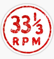 33 1/3 rpm vinyl record icon Sticker