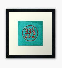 33 1/3 rpm vinyl record icon Framed Print