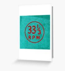 33 1/3 rpm vinyl record icon Greeting Card