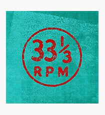 33 1/3 rpm vinyl record icon Photographic Print