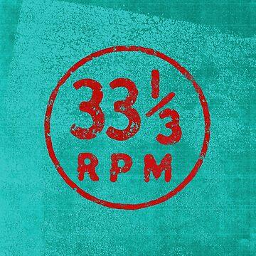 33 1/3 rpm vinyl record icon by WillRuocco