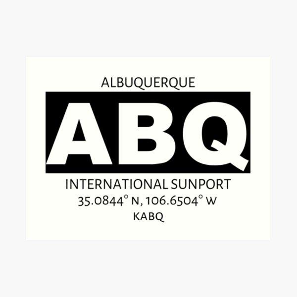 Albuquerque Airport ABQ Art Print