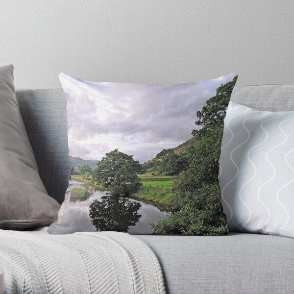 Lake District Reflection Throw Pillow