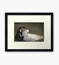 Bride and Groom romance Framed Print