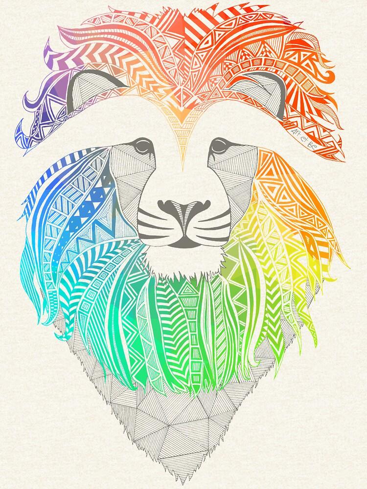 León multicolor de artetbe