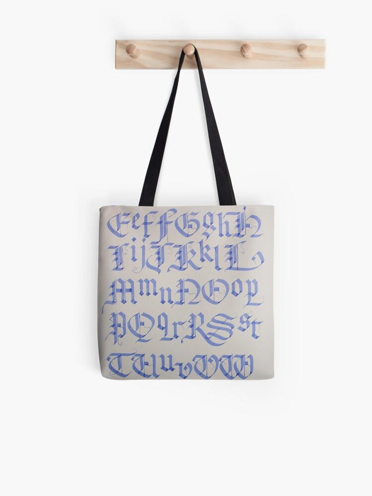 Old English Blackletter Alphabet | Tote Bag