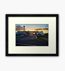 Pit Straight at Mount Panorama Framed Print