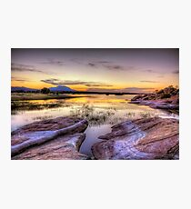 Willow Lake Dusk Photographic Print