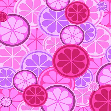 PINK GRAPEFRUIT CITRUS FASHION PINK DESIGN  by ozcushionstoo