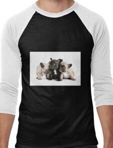 Frenchie Pals Men's Baseball ¾ T-Shirt