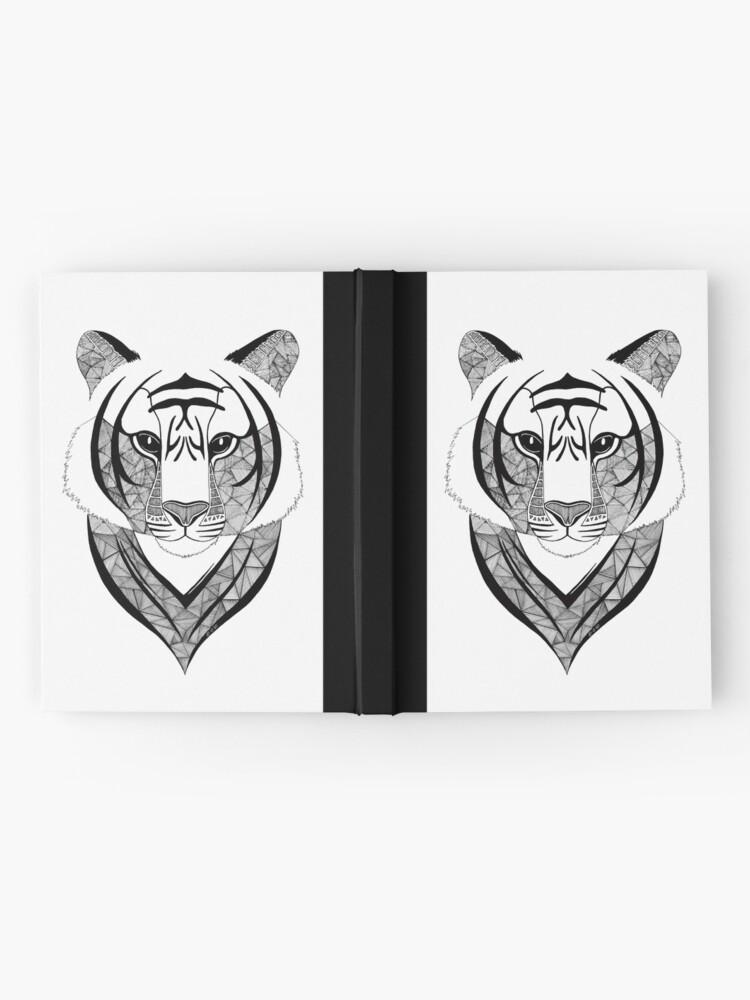 Vista alternativa de Cuaderno de tapa dura Tigre blanco y negro