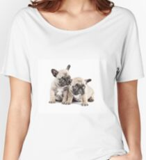 Frenchie Puppy Pals Women's Relaxed Fit T-Shirt