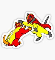 wrestle cats Sticker