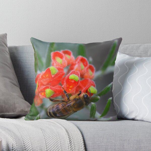Grevillea saccata  Throw Pillow