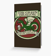 The Green Dragon Greeting Card