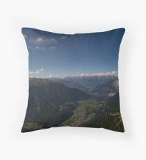 Mountains all around Throw Pillow