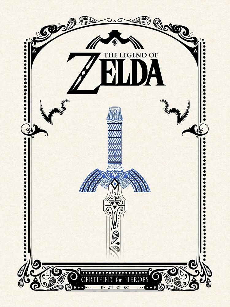 Leyenda de Zelda - enlace Espada doodle de artetbe