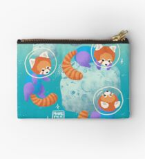 Red Space Pandas in Brighter Skies Studio Pouch
