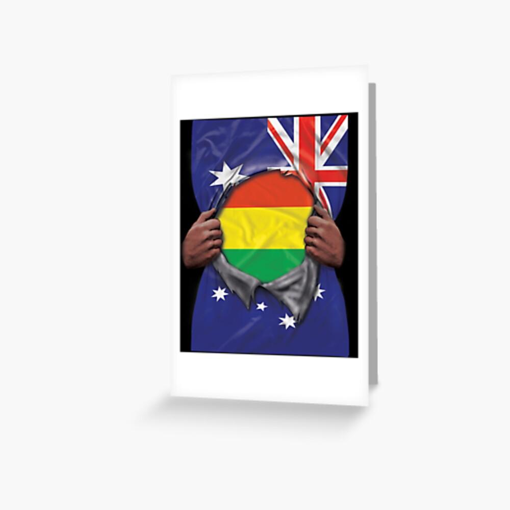 Bolivia Flag Australian Flag Ripped - Gift For Bolivian From Bolivia Grußkarte