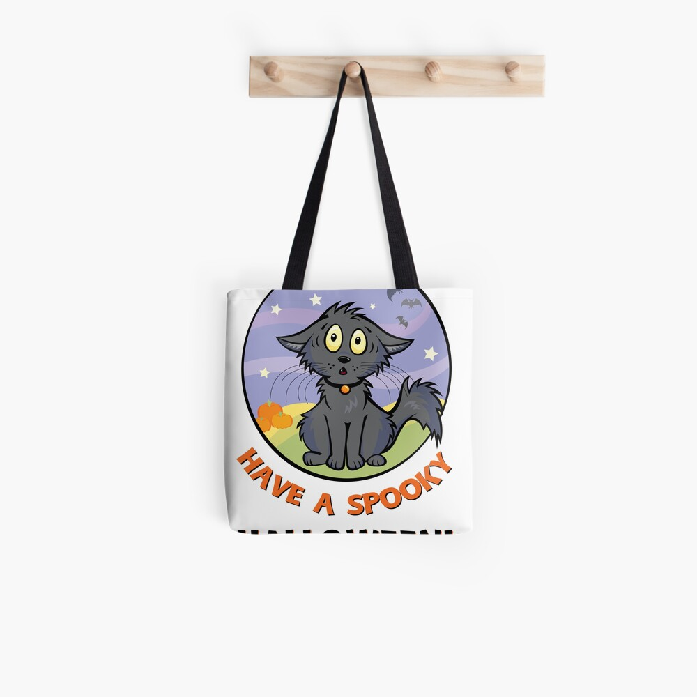 Scaredy Cat - A Spooky Halloween Card Tote Bag