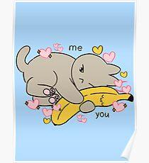 Gesunde Banane Katze Poster