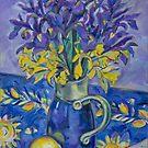Iris and Daffodil by Tracy Sabin